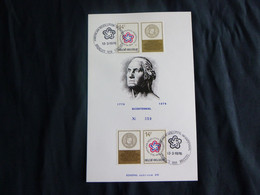 """BELG.1976 1797 FDC ECHOPHIL  Card  : """" Bicentenaire De La Révolution Américaine-Americain Revolution 1776-1976"""" - 1971-80"""
