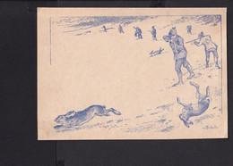 D42 /   Kunstkarte  / Jagd Jäger Hasen - 1900-1949