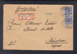 Dt. Reich Couvert 1899 Löwenberg Schlesien Nach München - Storia Postale