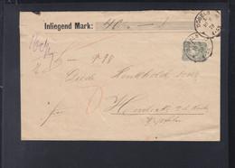 Dt. Reich Couvert 1879 Döbeln Wert 40 Mark Geprüft - Covers & Documents