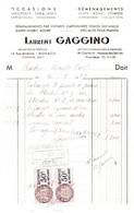 """MONACO -- Paire Timbres Fiscaux 50c.violet-brun, Brun Et Bleu  """" Quittances """"  Sur Facture Laurent GAGGINO 1949 - Fiscaux"""