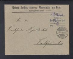 Dt. Reich Couvert 1923 1 Milliarde Gebühr Bezahlt Bad Münster A. Stein - Covers & Documents