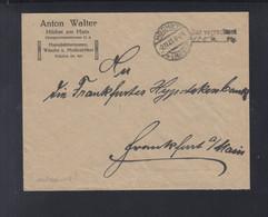 Dt. Reich Couvert 1923 Bar Verrechnet Höchst - Storia Postale