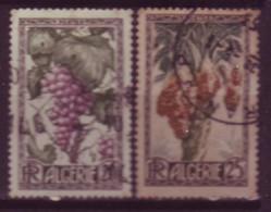 Timbres - Algérie - 1950 - Fruits - Yvert 279 - 280 (Oblitérés) - Used Stamps