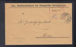 Dt. Reich Couvert 1923 2 Millionen Mark Nachw. In Oerlinghausen - Brieven En Documenten