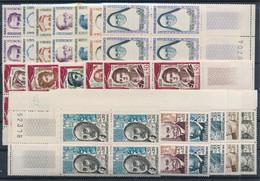 EC-166: FRANCE: Lot Avec Blocs De 4 BDF N°1250/52-1288*91-1301/1305-1345/1350 - Unused Stamps