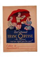 Protège-cahiers Un Entremets Francorusse Au Dessert C'est Un Régal Que L'on Sert Et Les 4 Opérations Au Verso - Omslagen Van Boeken