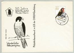 DDR 1987, Briefumschlag NSG Bodetal Thale, Rotkehlchen / Erithacus Rubecula - Songbirds & Tree Dwellers