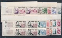 EC-167: FRANCE: Lot Avec Blocs De 4 BDF N°1257/1262**-1295/1300 En Blocs De 4 - Unused Stamps