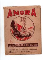 Protège-cahiers Amora La Moutarde De Dijon Avec Descriptif De La Ville De Dijon Au Verso- Format : 24x18cm - Omslagen Van Boeken