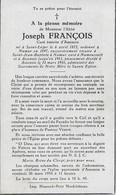 GC . SAINT - LEGER ..-- Mr L' ABBE Joseph FRANCOIS , Curé D' ASSENOIS , Né En 1872 , Décédé En 1954 . - Saint-Leger