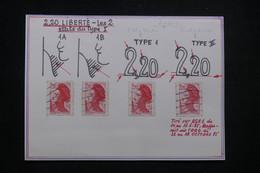 FRANCE - Liberté De Gandon , Les 2 états Du Type I, à Voir  - L 99537 - 1982-90 Liberté De Gandon