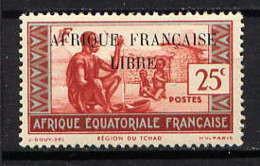 AEF  - 99** - REGION DU TCHAD / AFRIQUE FRANCAISE LIBRE - Ungebraucht