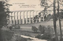 CARTE POSTALE ORIGINALE ANCIENNE : CHAUMONT UN TRAIN VAPEUR DE VOYAGEURS PASSANT SUR LE VIADUC EN 1915  HAUTE MARNE (52) - Chaumont