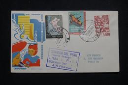 PEROU - Enveloppe 1er Vol Lima / Paris En Par Boeing 707 Air France En 1960 - L 99545 - Perú