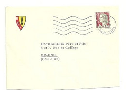 PAS De CALAIS - Dépt N° 62 = LENS 1963 = FLAMME Non Codée = SECAP Muette '5 Lignes Ondulées' + RCL / Racing Club - Mechanical Postmarks (Advertisement)