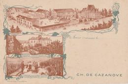 AVIZE - CH.DE CAZANOVE - GRANDS VINS DE CHAMPAGNE - VIN MONARQUE - CARTE MULTIVUES - 2 SCANNS - A VOIR !!! - Other Municipalities