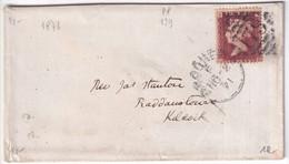 GB - 1871 - YVERT N° 26 (PL120) SEUL Sur LETTRE De BROGHEDA (IRLAND) => KILCOCK - Covers & Documents