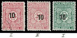 Jugoslawien P 62/63I °/* + P 62II * = Yougoslavie Yvert T 76I/II + T 77I = Yugoslavia Scott #J21/22 - Timbres-taxe