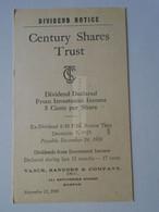 AD048.5  Postal Stationery  USA   1959 Boston Mass. -Century Shares Trust -Vance, Sanders & Company - 1941-60