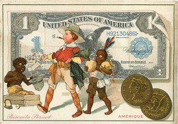 CHROMO BISCUITS PERNOT AMERIQUE UNITED STATES OF AMERICA - Pernot