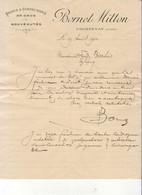TISSUS ET CONFECTIONS BORNET MITTON À COURTENAY LOIRET ....... CORRESPONDANCE COMMERCIALE DE 1910 - Vestiario & Tessile