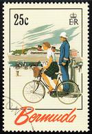 Bermuda 1993 Used Sc #644 25c Cyclist, Carriage, Ship Tourism Posters - Bermudas