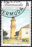 Bermuda 1996 Used Sc #729 80c St. David's Lighthouses - Bermudes