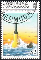 Bermuda 1996 Used Sc #730 $2 North Rock Beacon Lighthouses - Bermuda