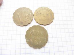 Lot 3x  1 Kg De Pain Dijon Coopérative Plm  Paypal Possible  Jeton Nécessité 1935   Kilo - Professionals/Firms