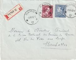 Briefvoorzijde - Devant De Lettre - Agence NAMUR 12 - 1952 - Cachets à étoiles