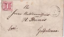 THURN UND TAXIS 1866 LETTRE - Thurn Und Taxis
