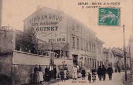 GENAS  (Rhone) - Hôtel De La Poste  B. GUINET - Otros Municipios