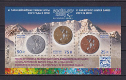 RUSSIA 2014 #1806-1808 -II. Overprint. XI Paralympic Winter Games 2014 In Sochi. MNH - Unused Stamps
