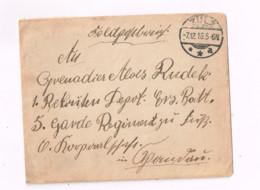 Lettre Expédiée En Feldpost De Zulz à 5.Garde Regiment Zu Fuss.Mit Inhalt. - Storia Postale
