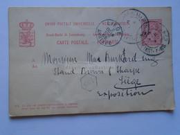 AD048.16   Postal Stationery  Ganzsache  Entier - Cancel 1905  Luxembourg - Sent To  Liége -Exhibition - Postwaardestukken