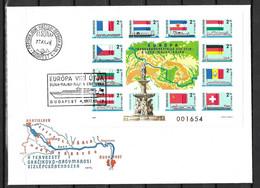 Hongrie Bloc-feuillet YT N° 134 Non Dentelé Oblitéré Sur Enveloppe FDC. TB. A Saisir! - Blocks & Sheetlets