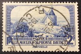 311 ° 2  R.Cler Paris Moulin Alphonse Daudet Fontvieille Oblitéré - 1921-1960: Periodo Moderno