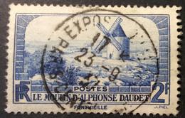 311 ° 3 Exposition Paris Moulin Alphonse Daudet Fontvieille Oblitéré - 1921-1960: Periodo Moderno