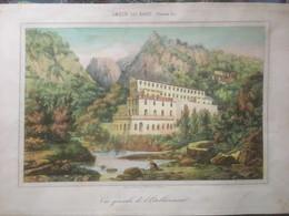 Amèlie-les-Bains  Belle Lithographie Des Bains Pujade (39 X 27,5) - Lithographies