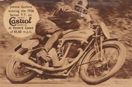 GB Postcard Isle Of Man TT Race Winner Jimmie Guthrie On His Norton Machine 1936 - Isle Of Man
