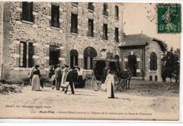 Mont-Pilat- Grand-Hôtel-Départ De La Voiture Pour La Gare De Chavanay - Mont Pilat