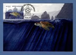 Portugal  / Madeira  2021 , EUROPA CEPT Espécies Ameacadas - Maximum Card - CTT Funchal 2021.05.07 - 2020