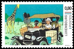 Timbre Privé** - Tintin / Kuifje / Tim / Tintin - Milou / Bobbie / Struppi / Snowy - Tintin Au / Kuifje In - Congo - Automobili