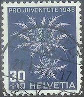 Schweiz Pro Juventute 1946: Eryngium Alpinum Zu WI 120 Mi 478 Yv 436 Mit Stempel NEUEWELT 21.I.47 (BERN) (Zu CHF 12.00) - Used Stamps