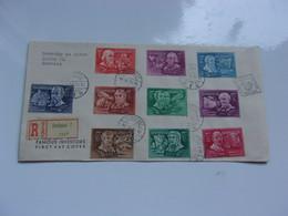 HONGRIE  (1948) Inventeurs,explorateurs FDC Pour DAVOS - Non Classificati