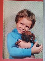 KOV 504-13 - DOG, CHIEN, HUND, CHILDREN, ENFANT - Dogs