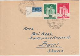 Bizone - 10+20 Pfg. Berlin-Hilfe + Notopfer Brief I.d. SCHWEIZ Leonberg 1948 - Zona Anglo-Americana
