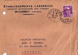 88 - VOSGES - MOUSSEY - TAD De Type A6 De 1948 SUR DEVANT - Cachets Manuels