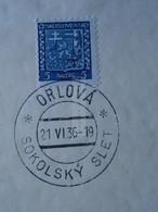 AD048.34 Czechoslovakia (1936)  ORLOVA SOKOLSKY SLET - Covers & Documents